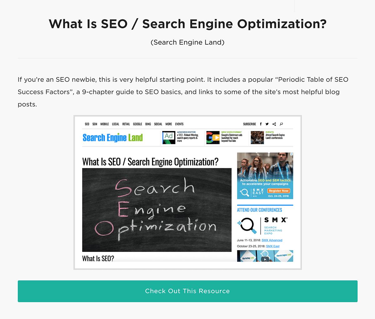 """Unique descriptions on """"Learn SEO Fast"""" post"""