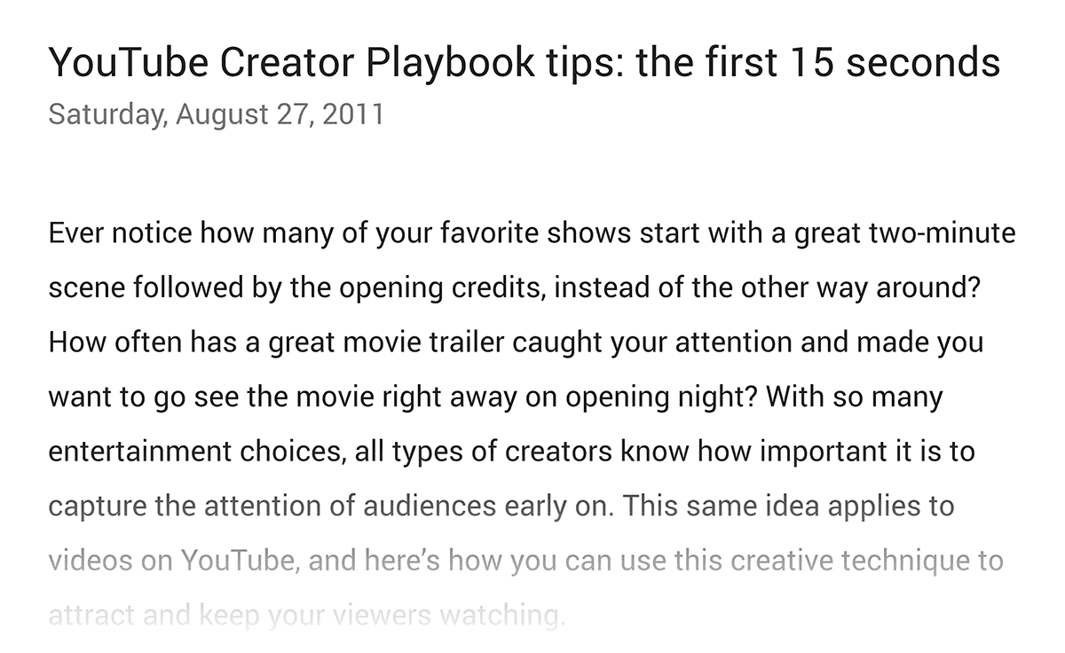 YouTube Creator – Playbook tips