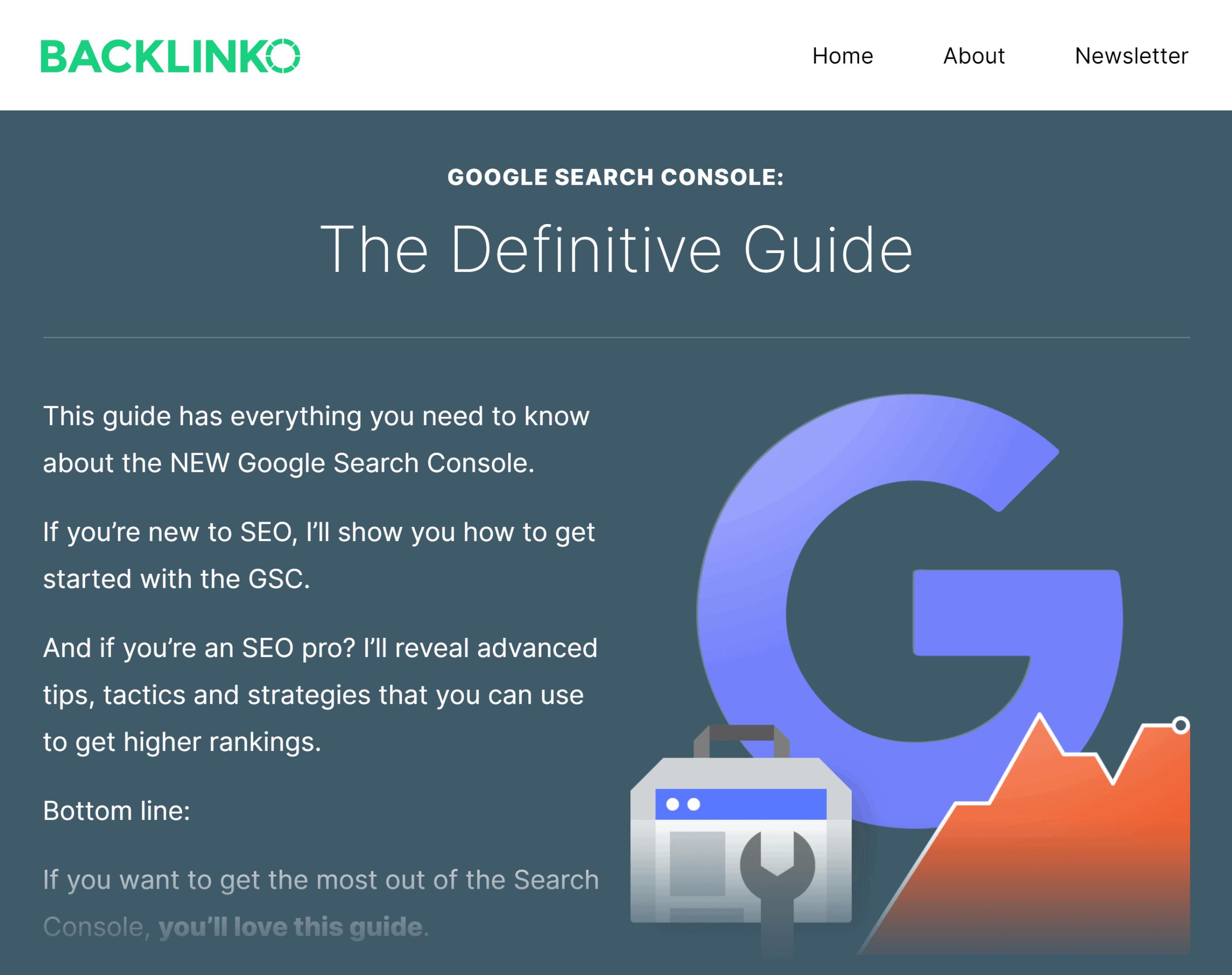 Backlinko – Google Search Console Guide