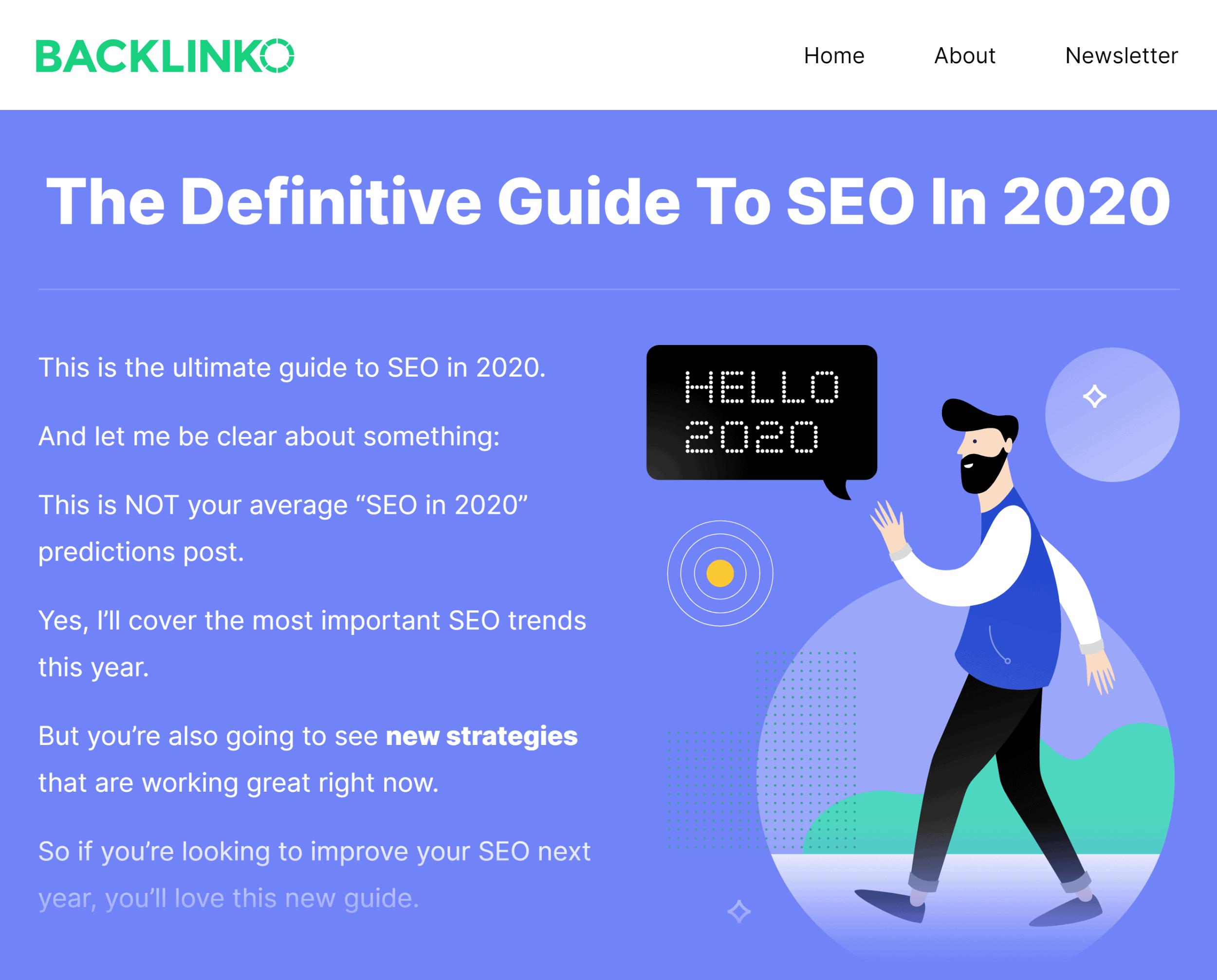 Backlinko – SEO This Year post