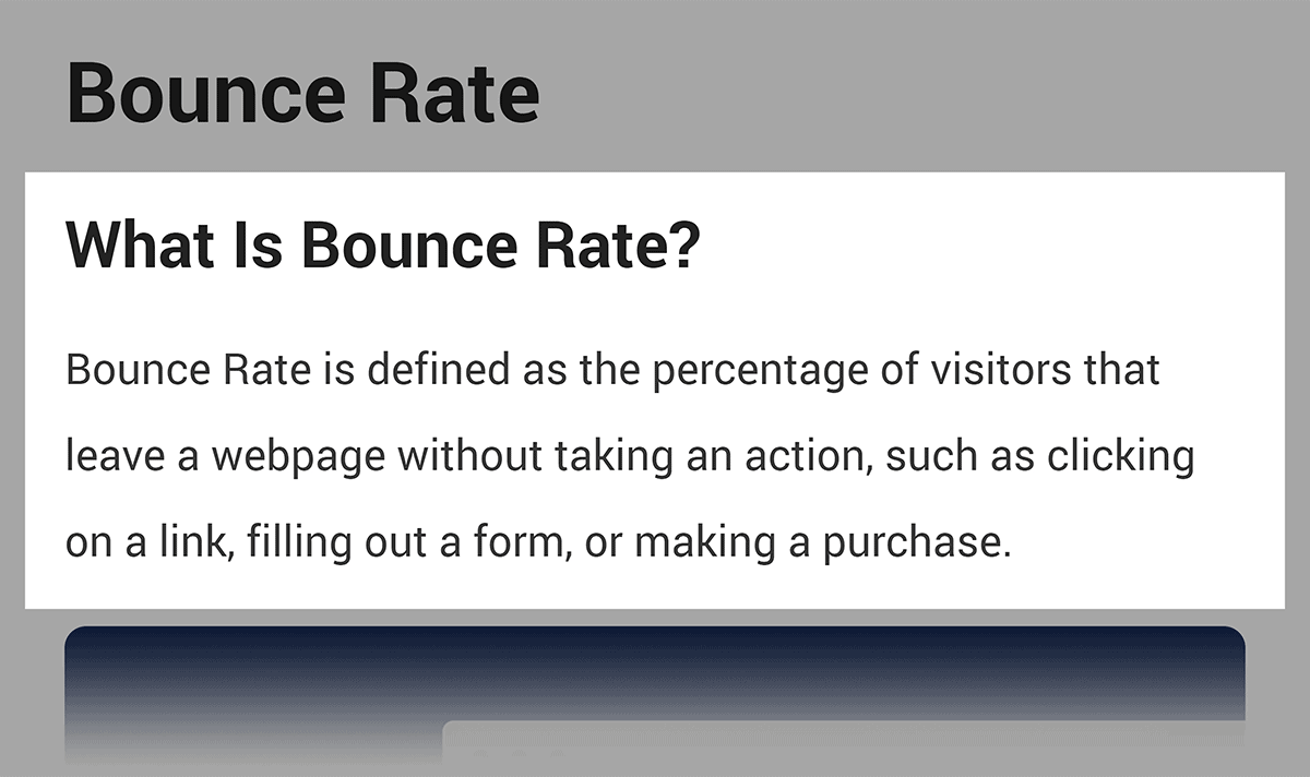 Bounce Rate definition in Backlinko post