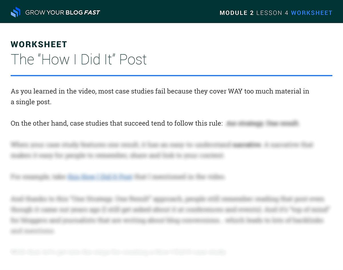 Case study PDF worksheet