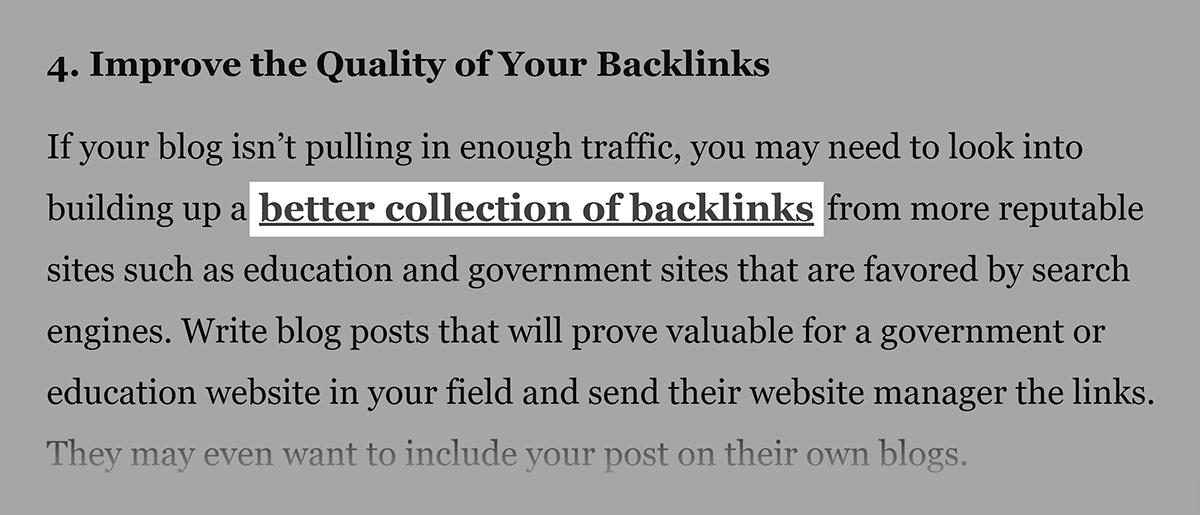 Editorial site backlink