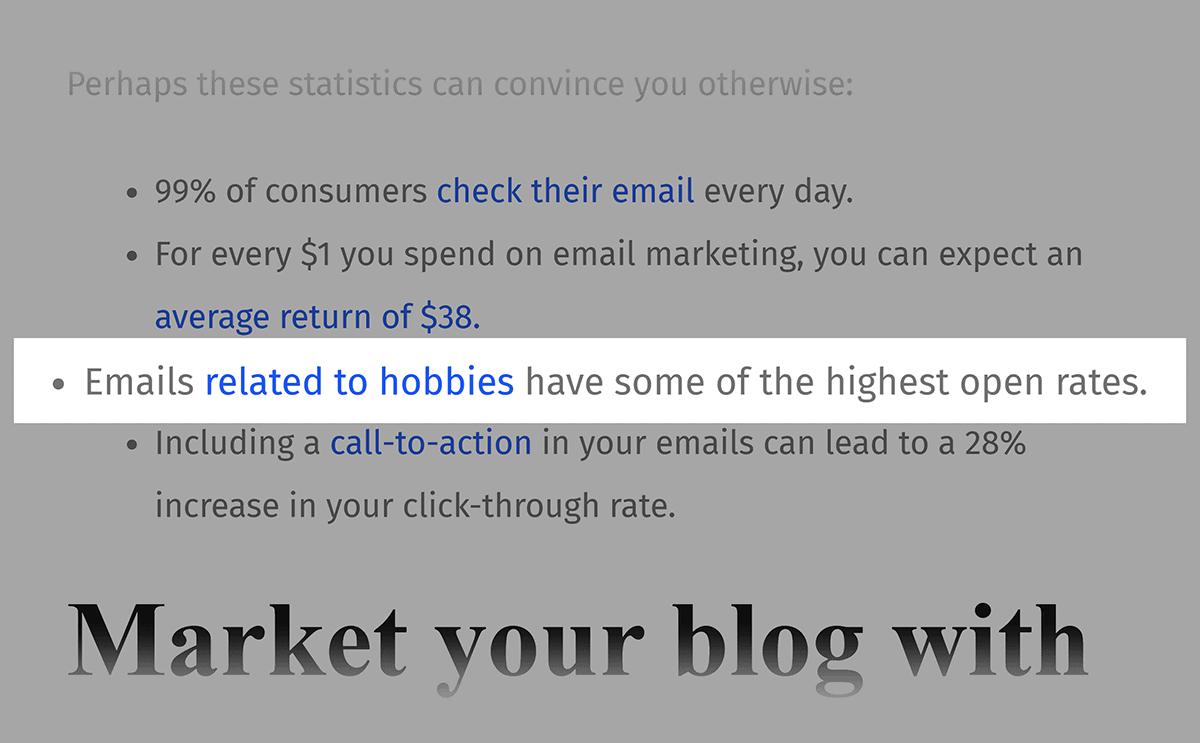 Email Marketing Stats – Backlink