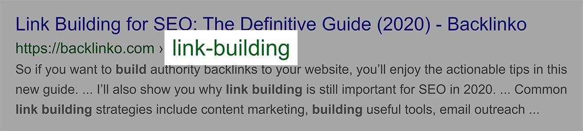 Exact keyword in URL
