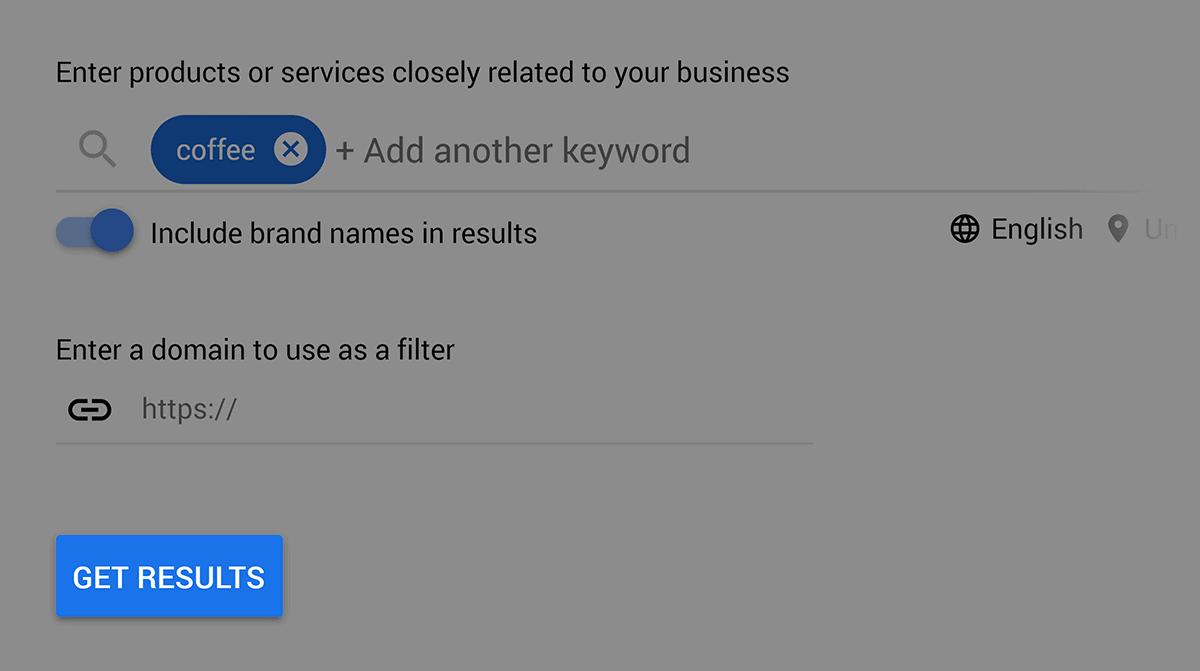 Google Keyword Planner – Get started