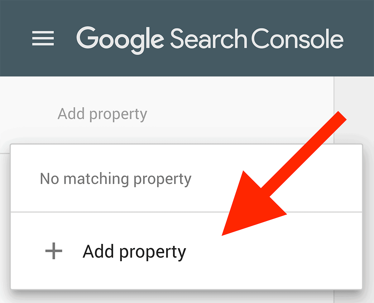 Google Search Console – Add property