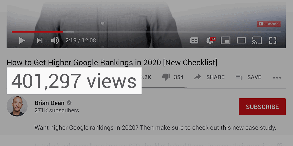 Higher Google Rankings – Video views