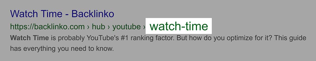Keyword in URL after subfolder