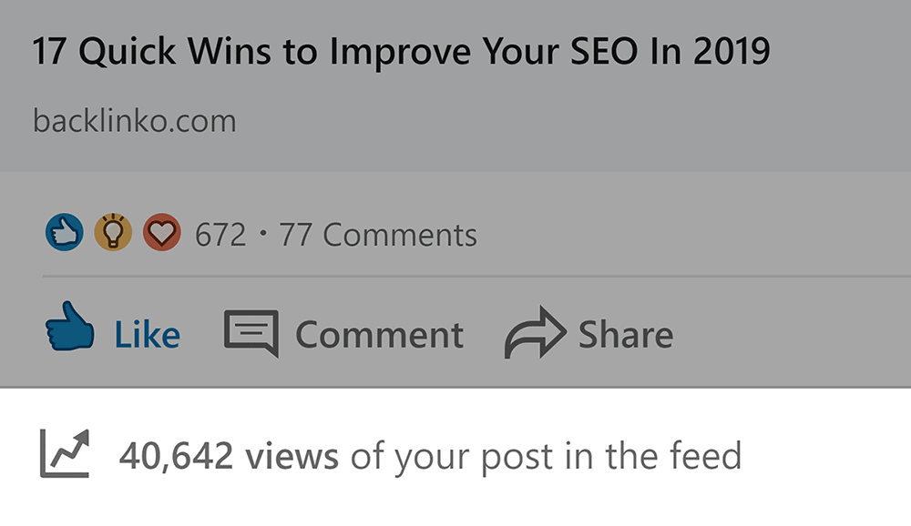 LinkedIn post views