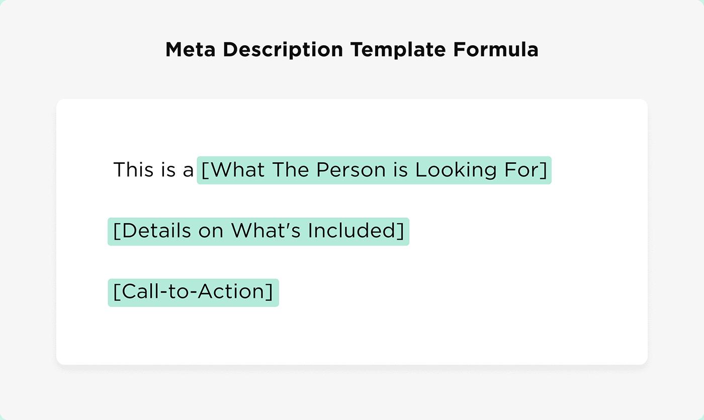 Meta Description Template Formula