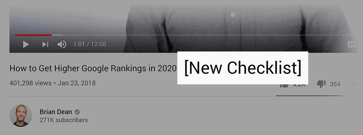 """New Checklist"" in video title"