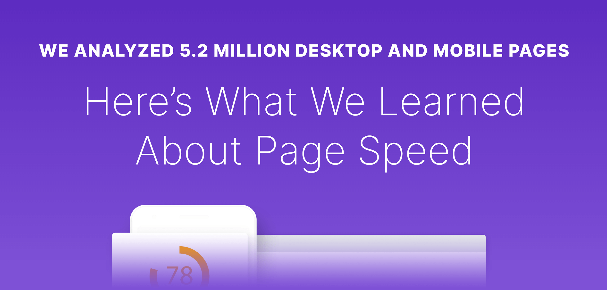 Page Speed Stats post – Headline