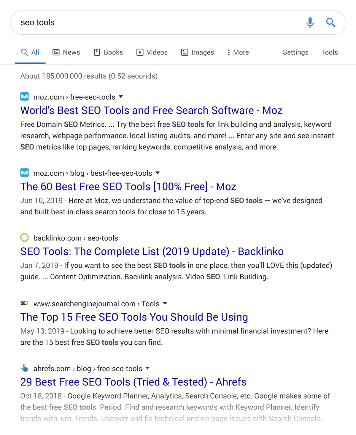SEO Tools – Google SERP