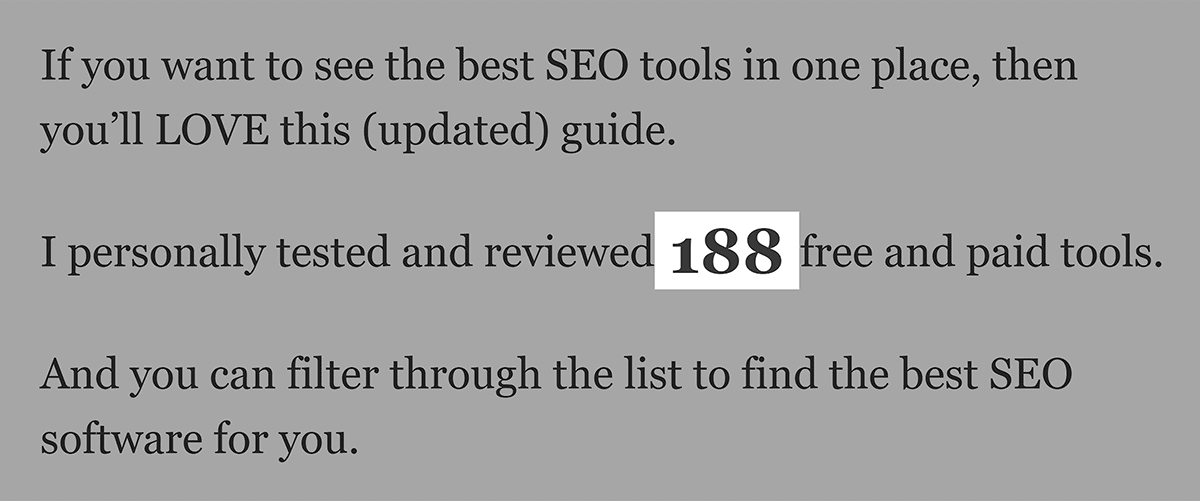 SEO Tools – Number of tools
