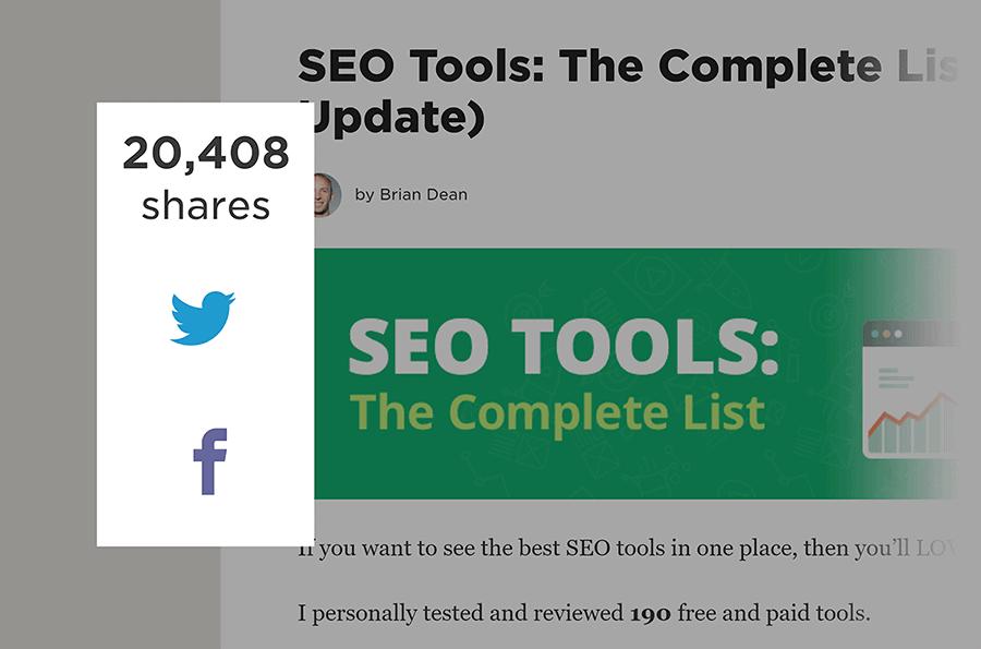 SEO Tools post – Social shares
