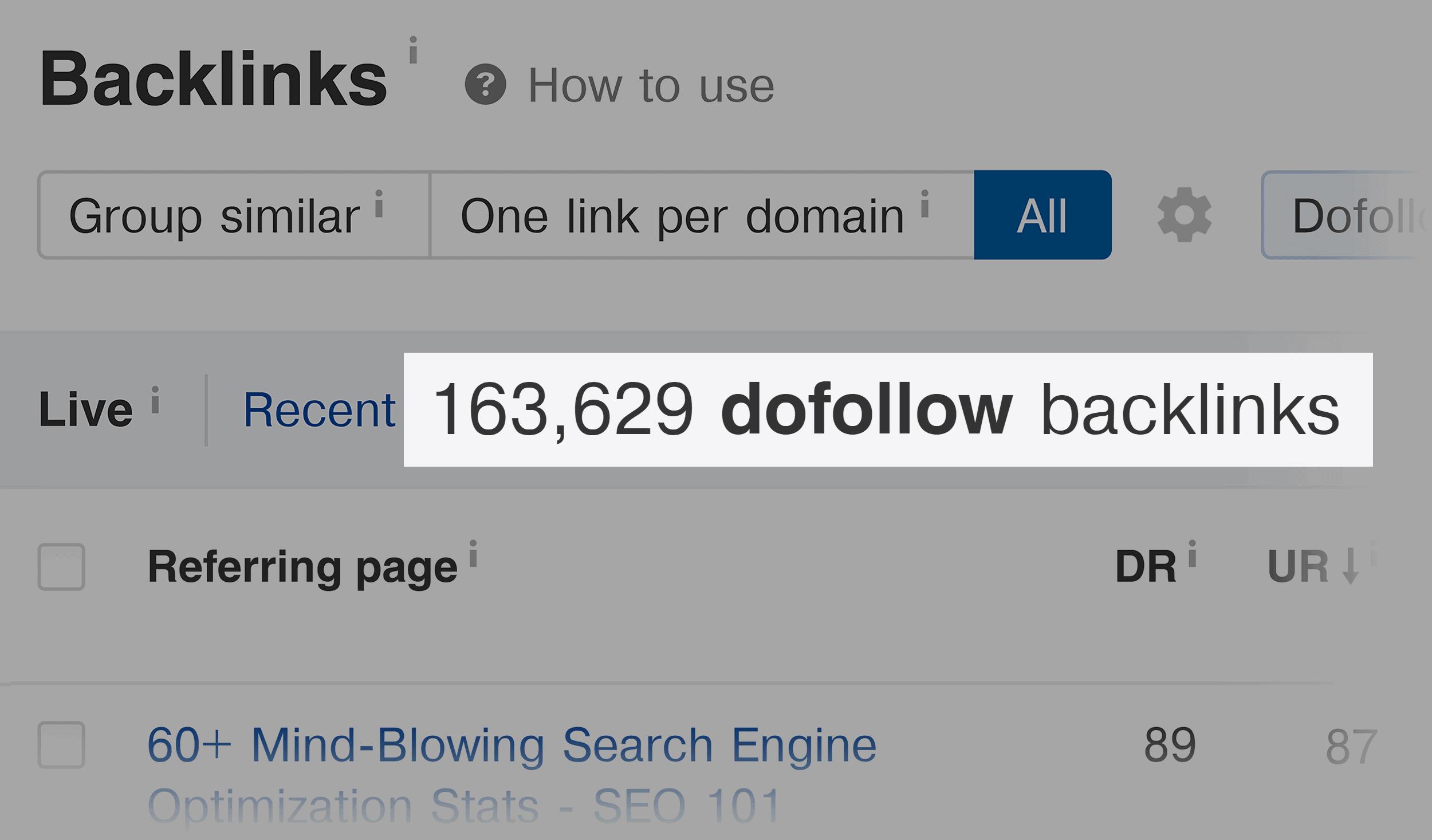 Ahrefs – Backlinko dofollow backlinks