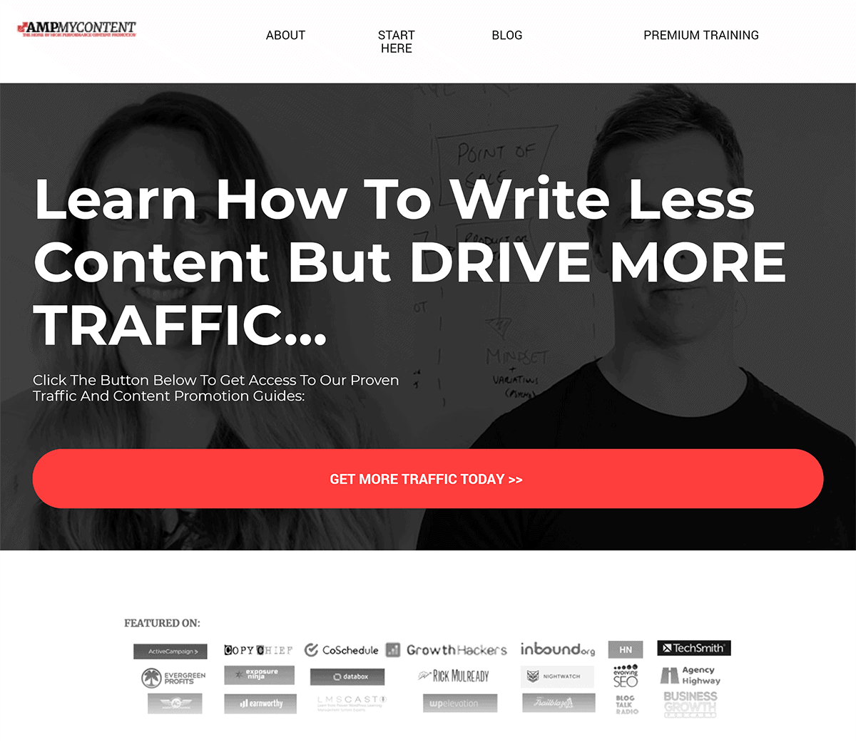 Amp My Content – Homepage