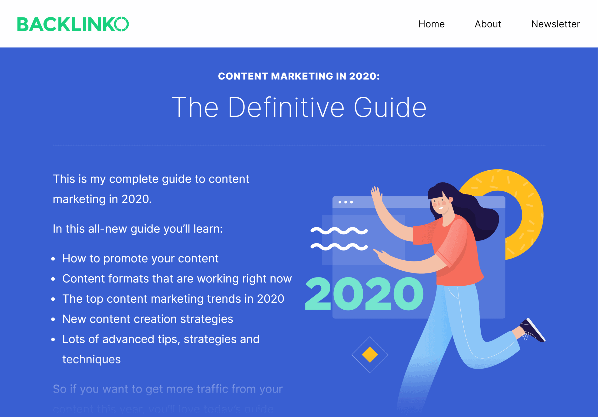Backlinko – Content marketing this year