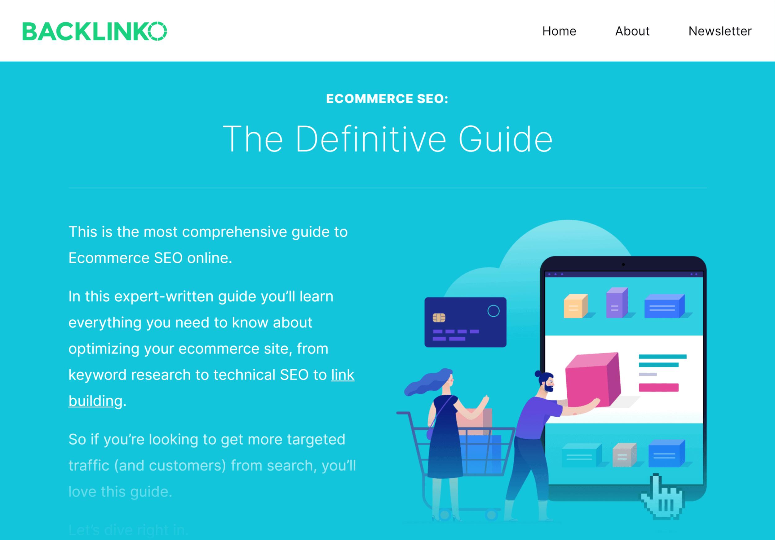 Backlinko – Ecommerce SEO guide