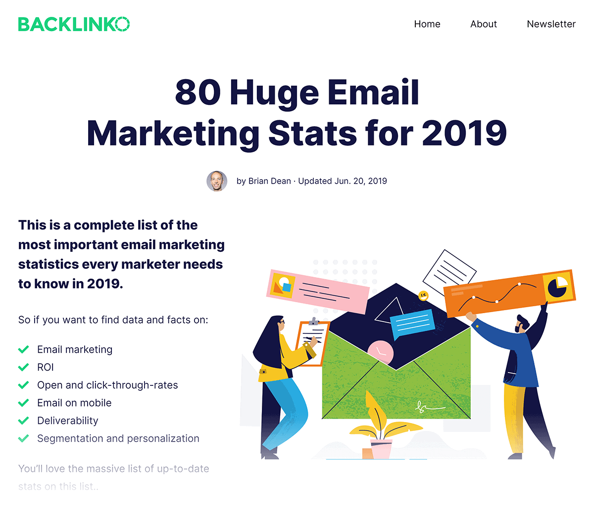 Backlinko – Email Marketing Stats post