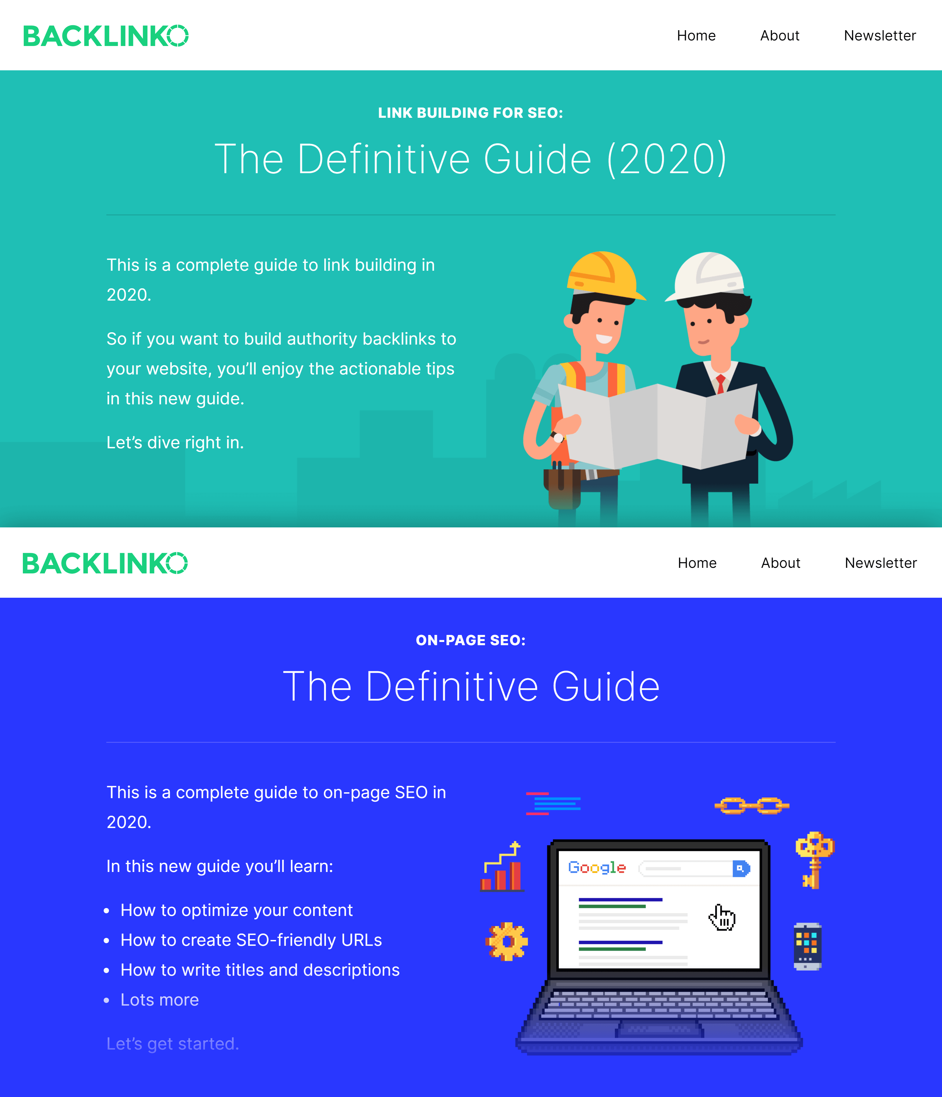 Backlinko – Link building and on-page SEO guides