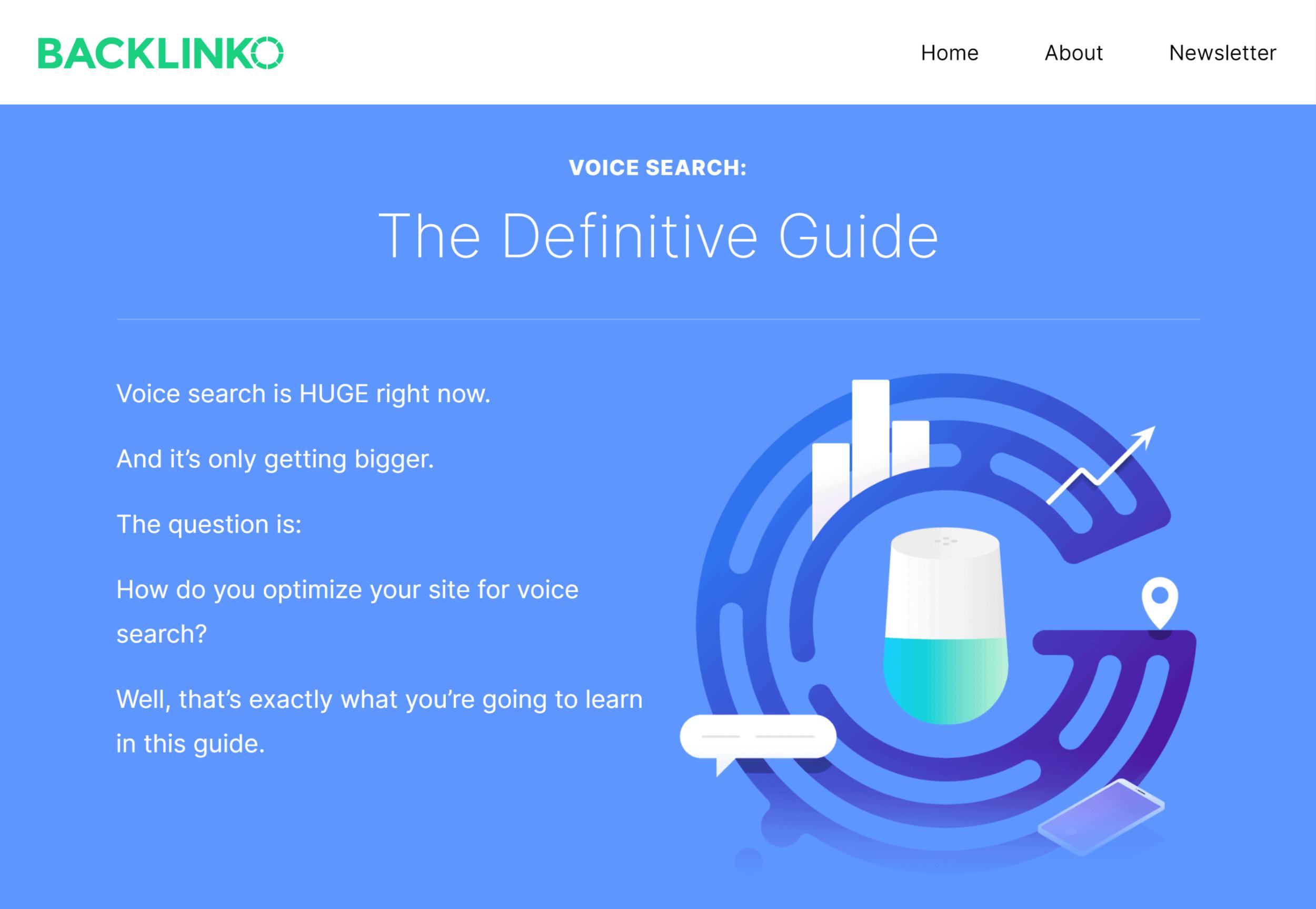 Backlinko – Optimize for voice search guide