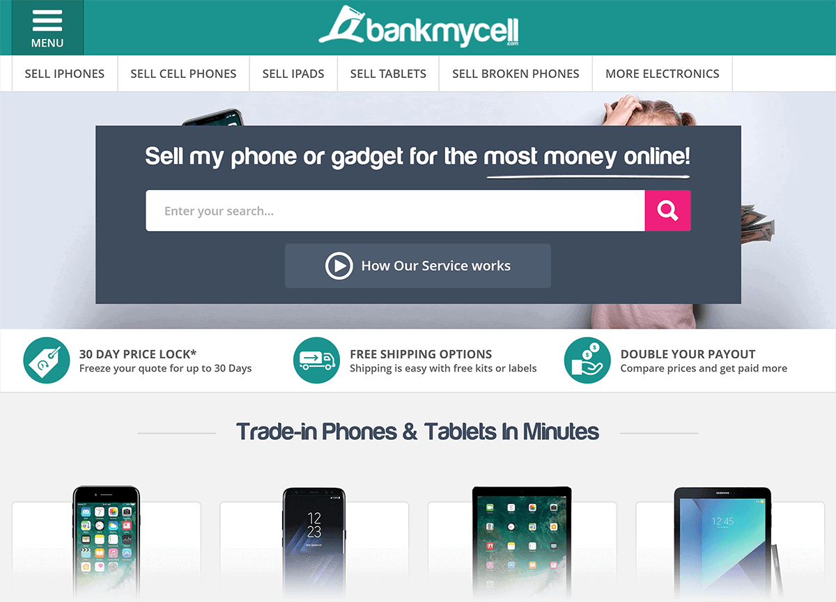 BankMyCell – Homepage
