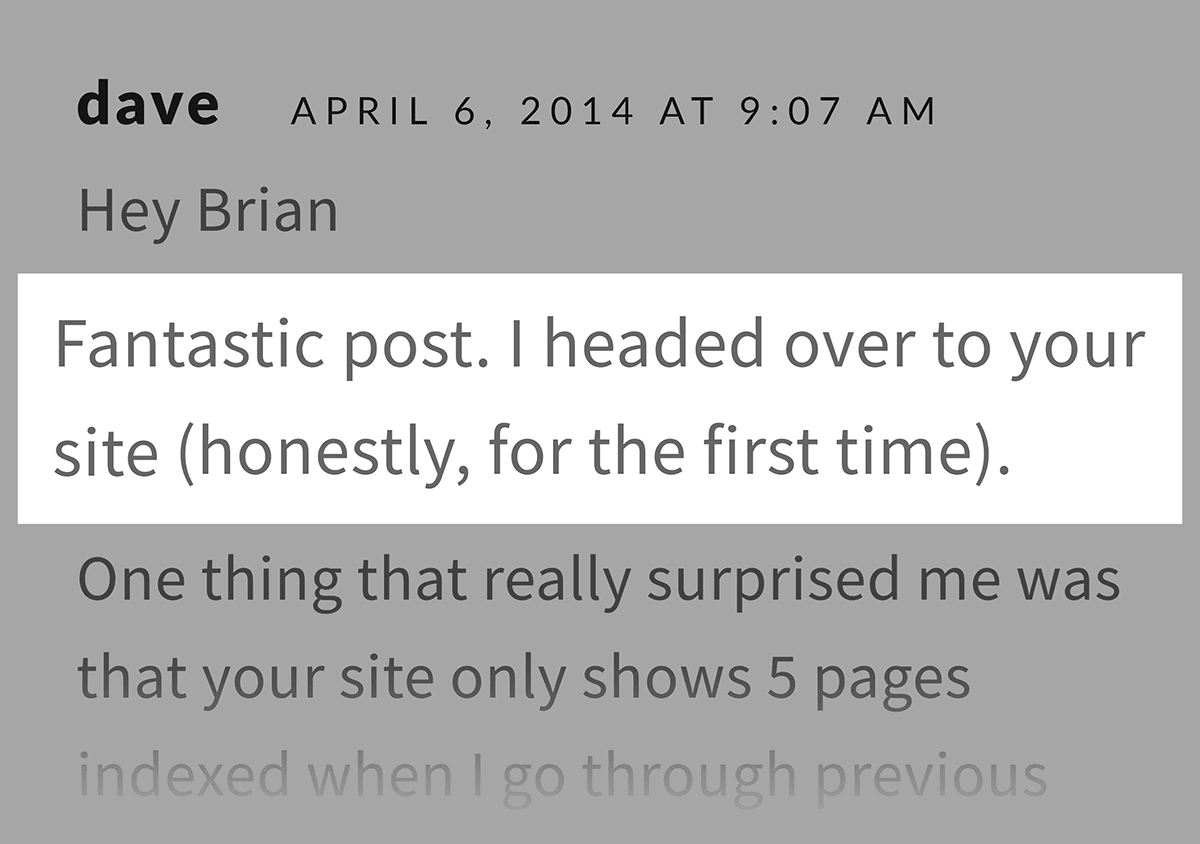 Comment from reader on guest post