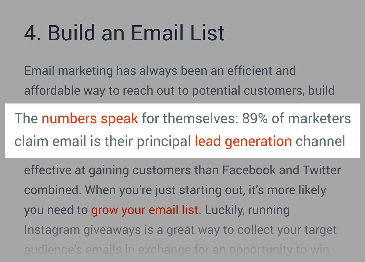 Email Marketing Stats post – Backlink