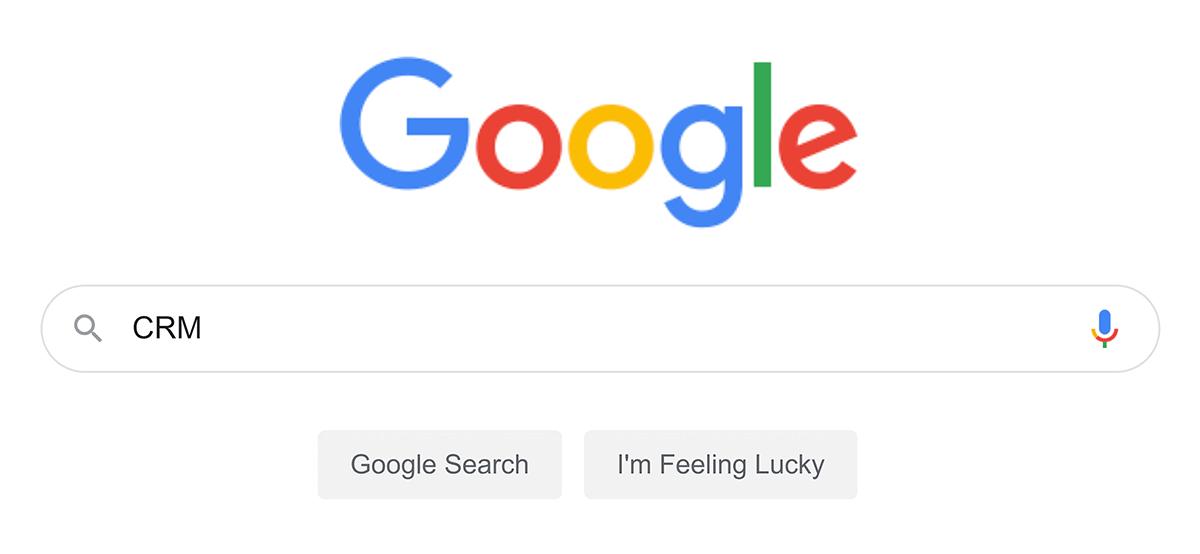 "Google search – ""CRM"""