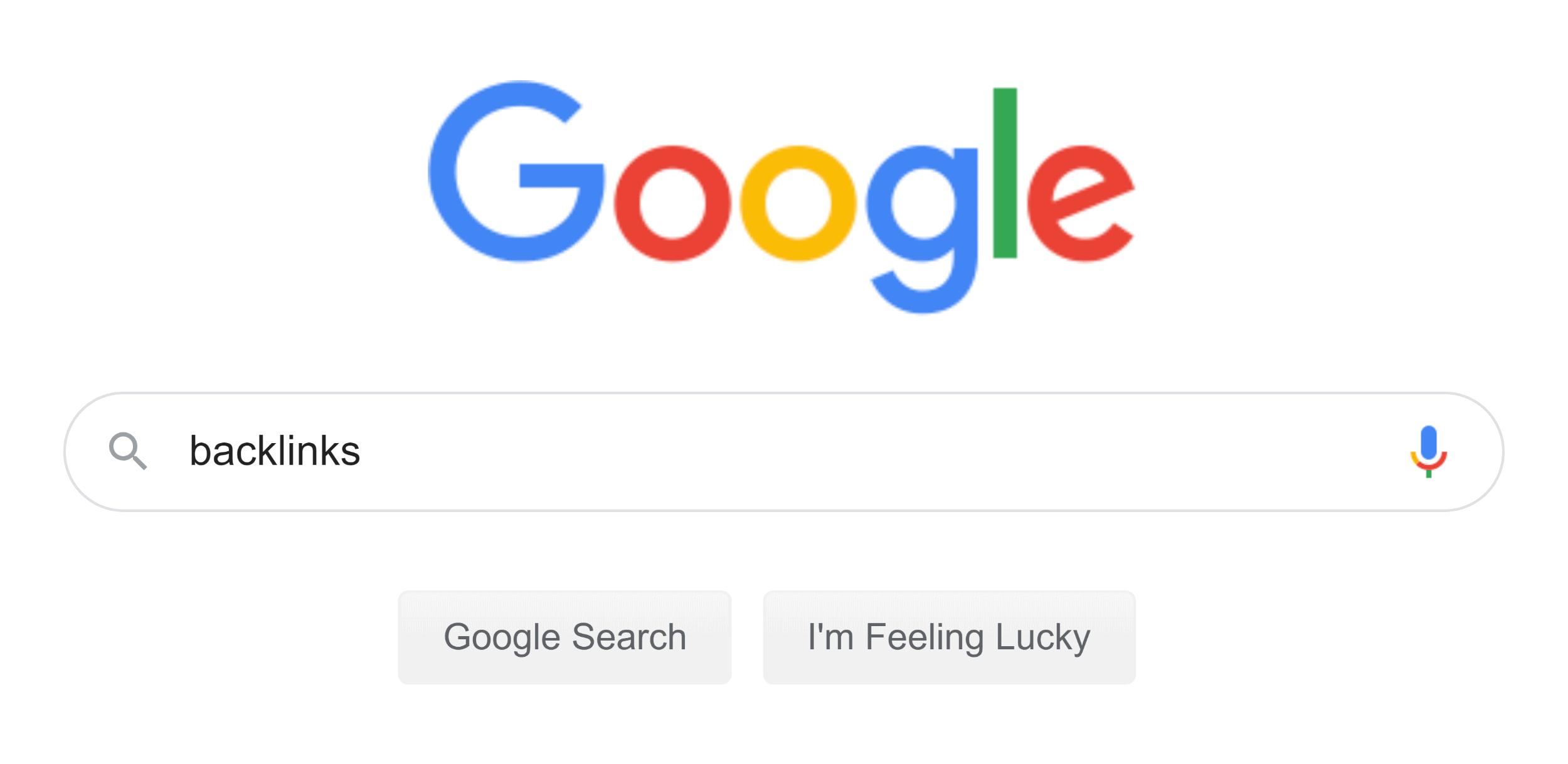Google – Search – Backlinks