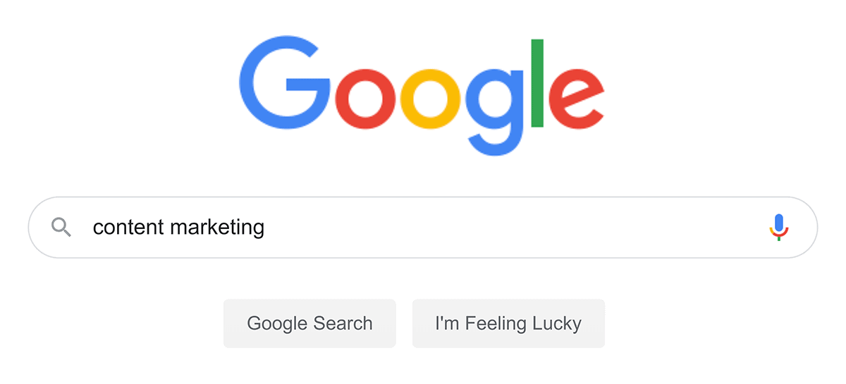 "Google search – ""content marketing"""
