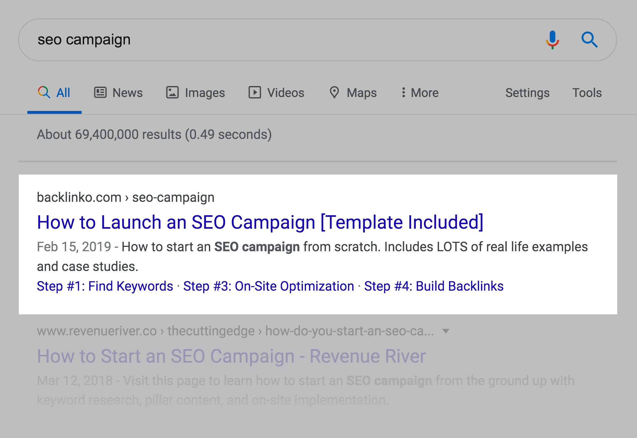 How to Launch an SEO Campaign post in SERPs