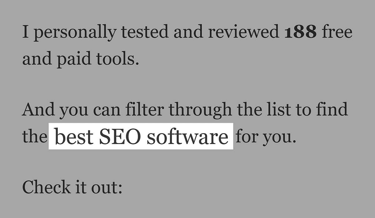 "LSI Keyword ""best SEO software"" in post"