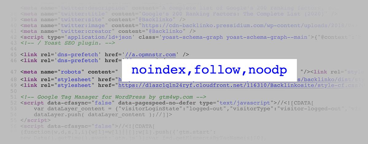 Noindex HTML