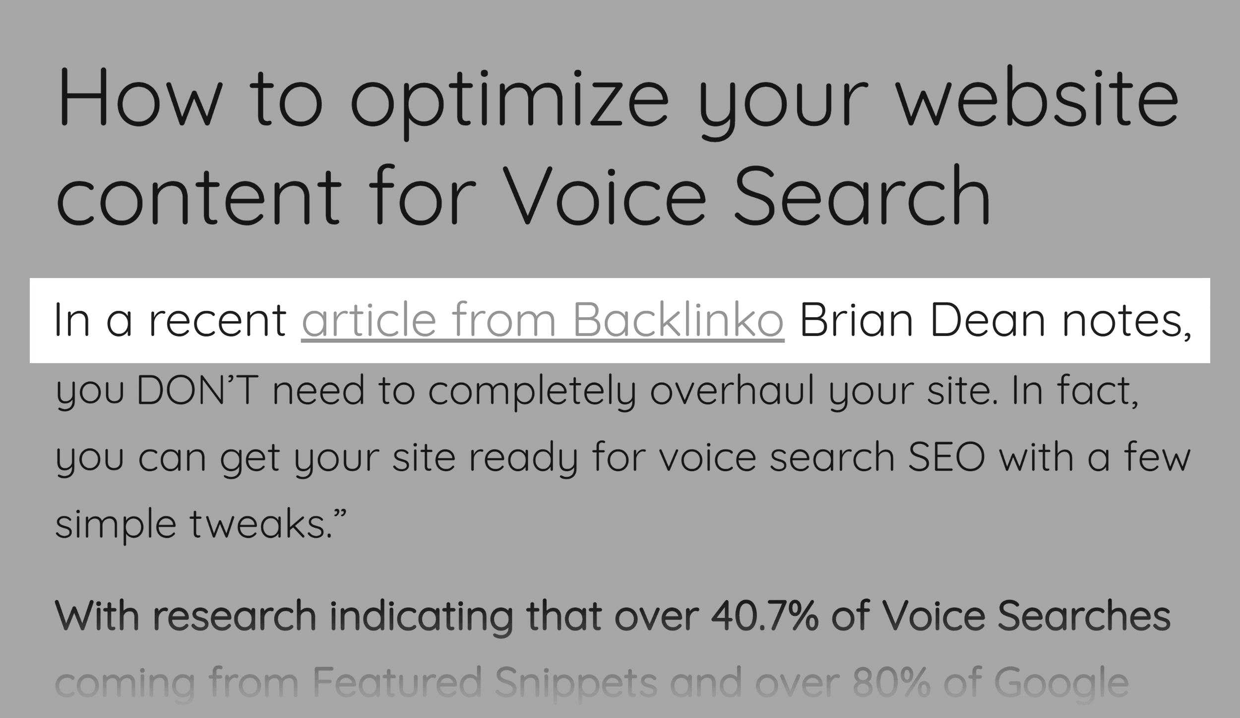 Optimize for voice search – Backlink