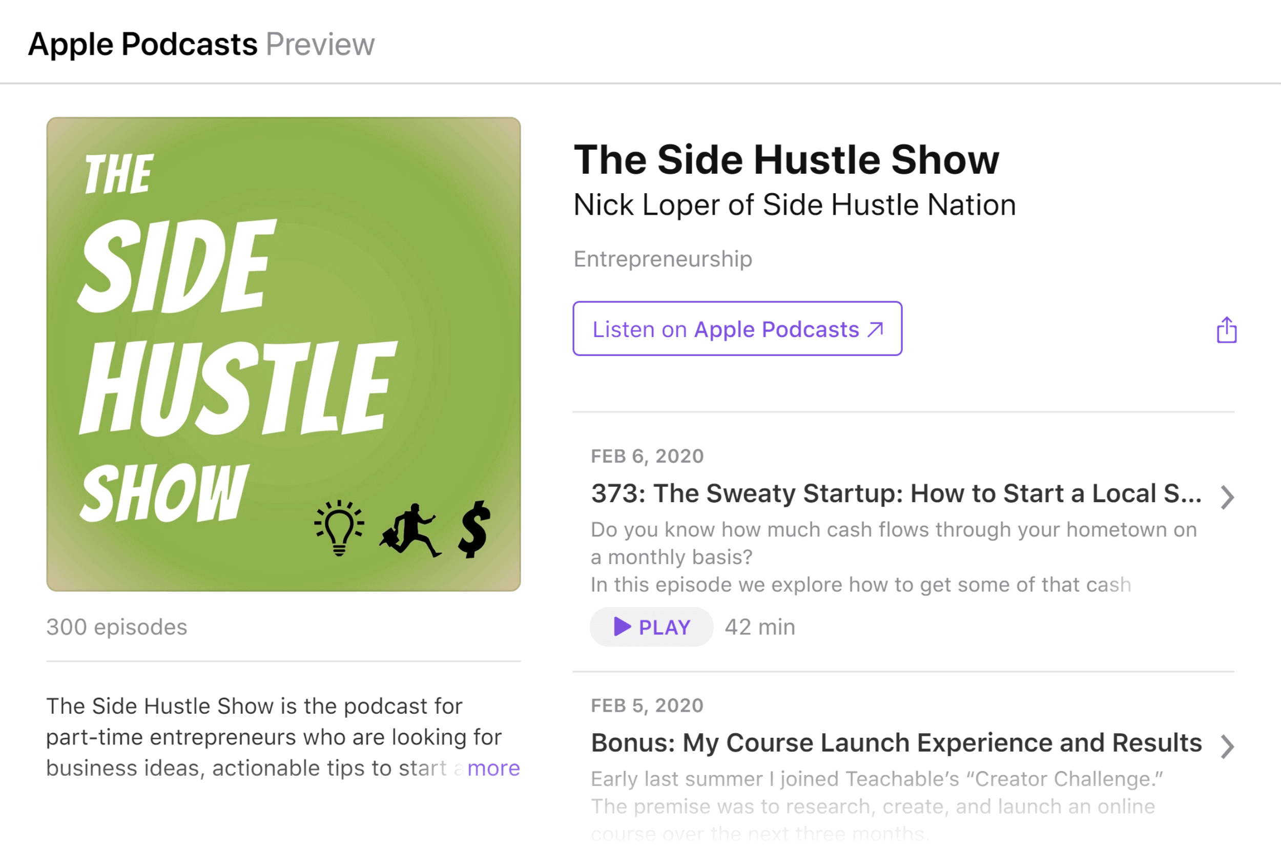 Podcast – The side hustle show