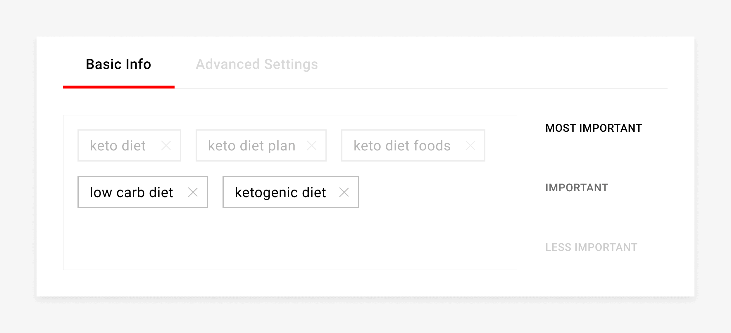 Add 2 more non-keyword video tags