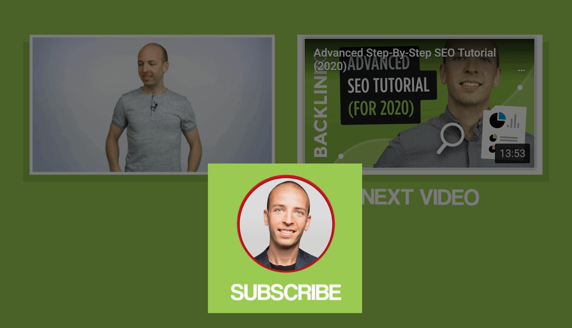 Backlinko – Subscribe button at end of video