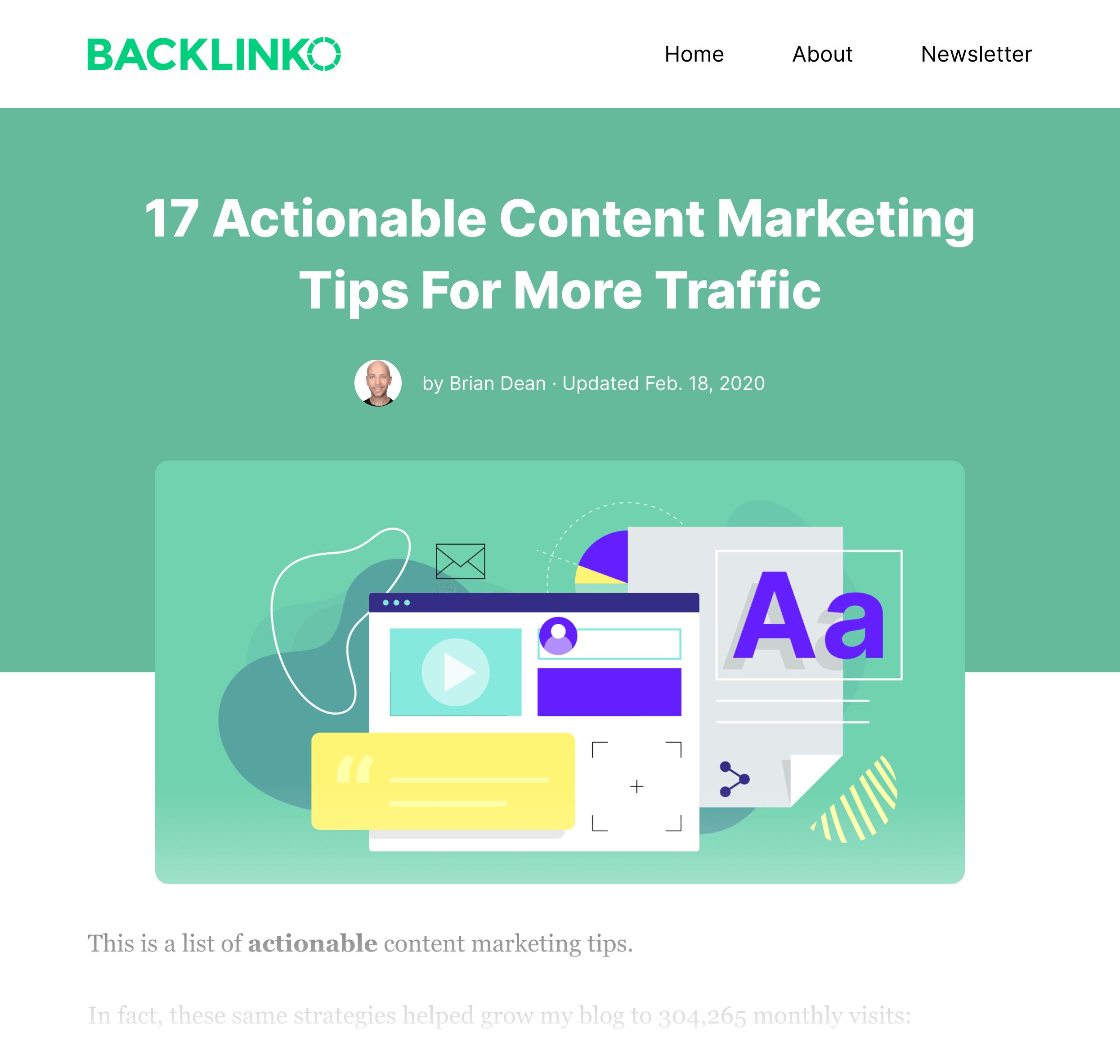 Content Marketing Tips – List Post