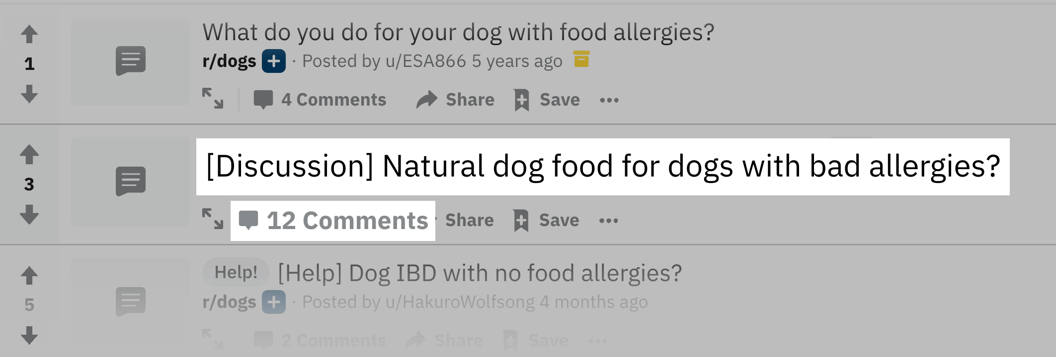 "Reddit – ""dog food allergies"""