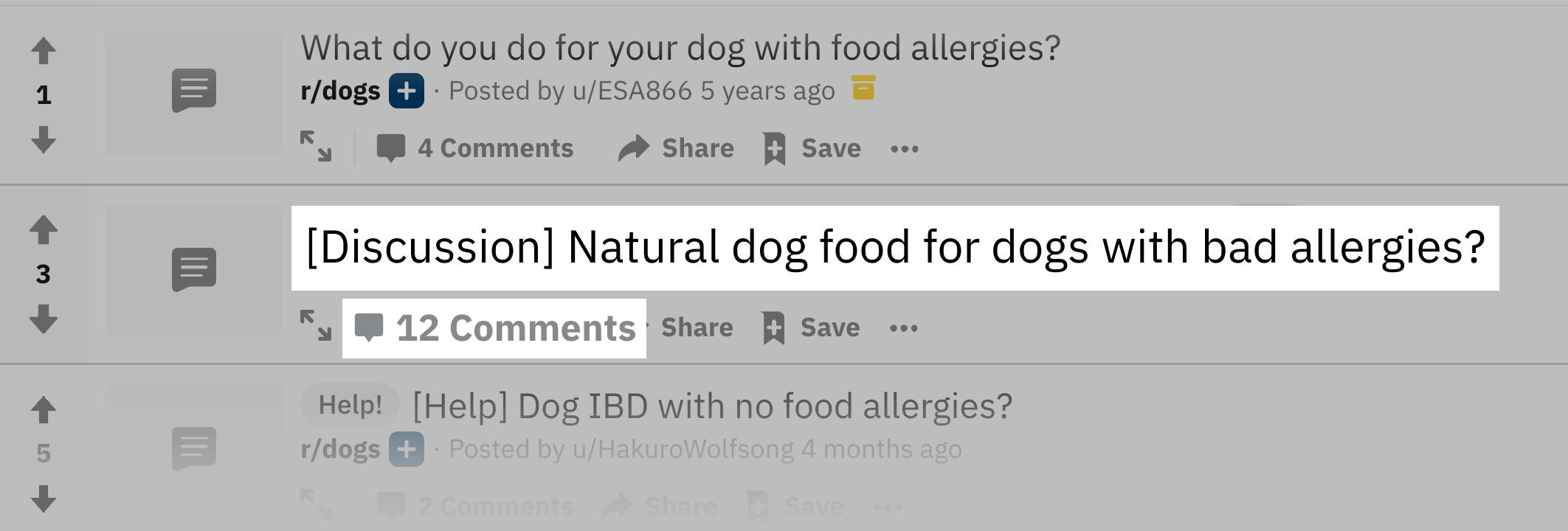 "Reddit – ""dog food allergies"""