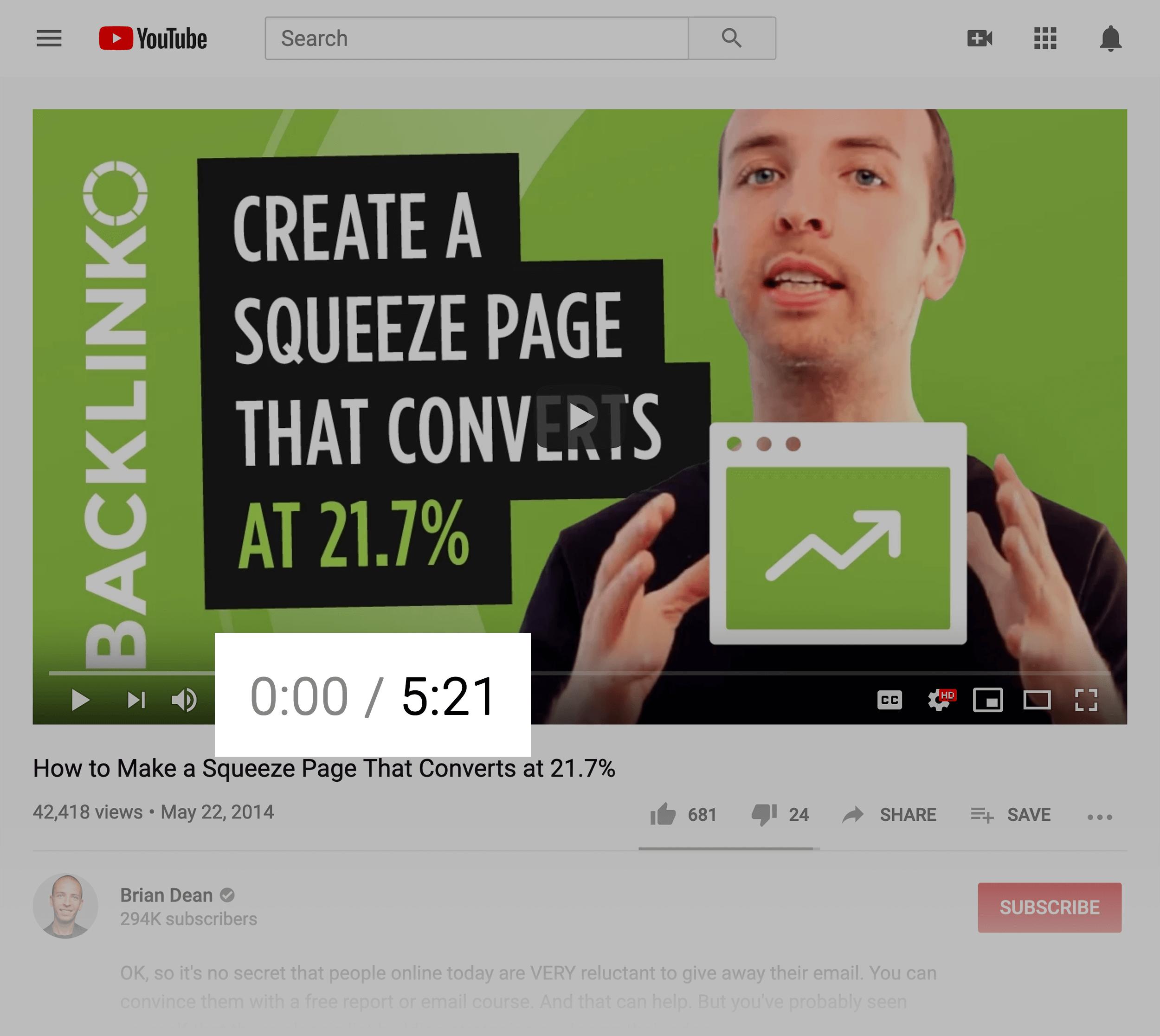 Short video example