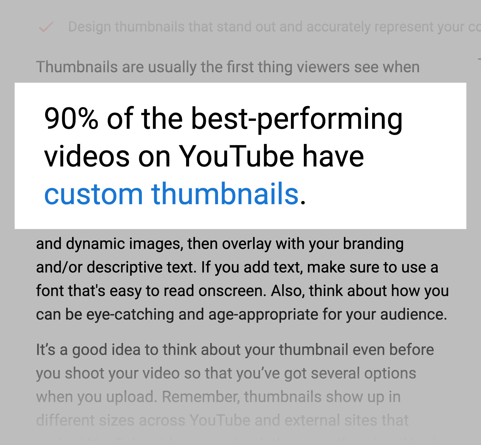 YouTube reports – 90 percent of best performing videos have custom thumbnails