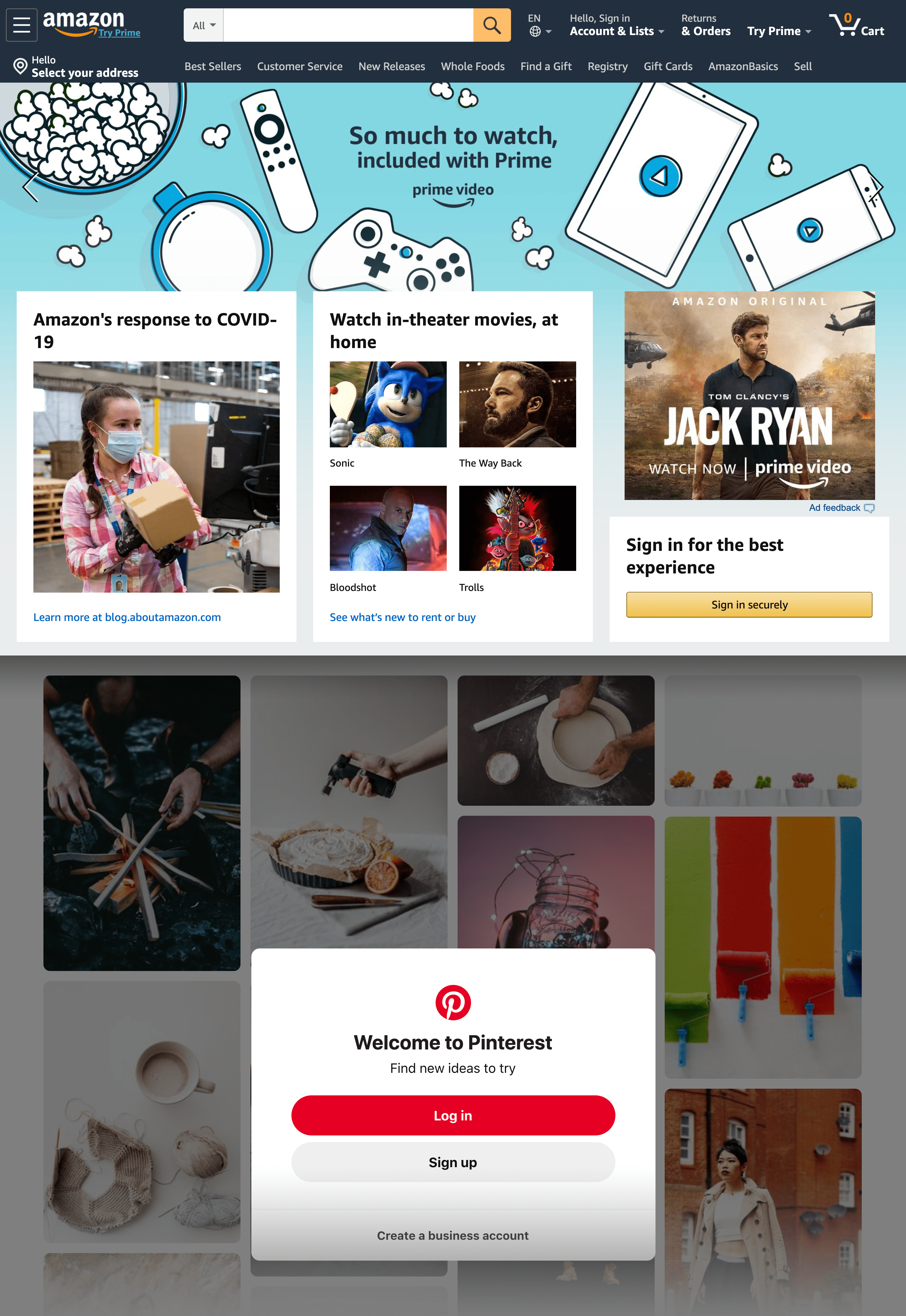 Amazon Pinterest – Home Pages