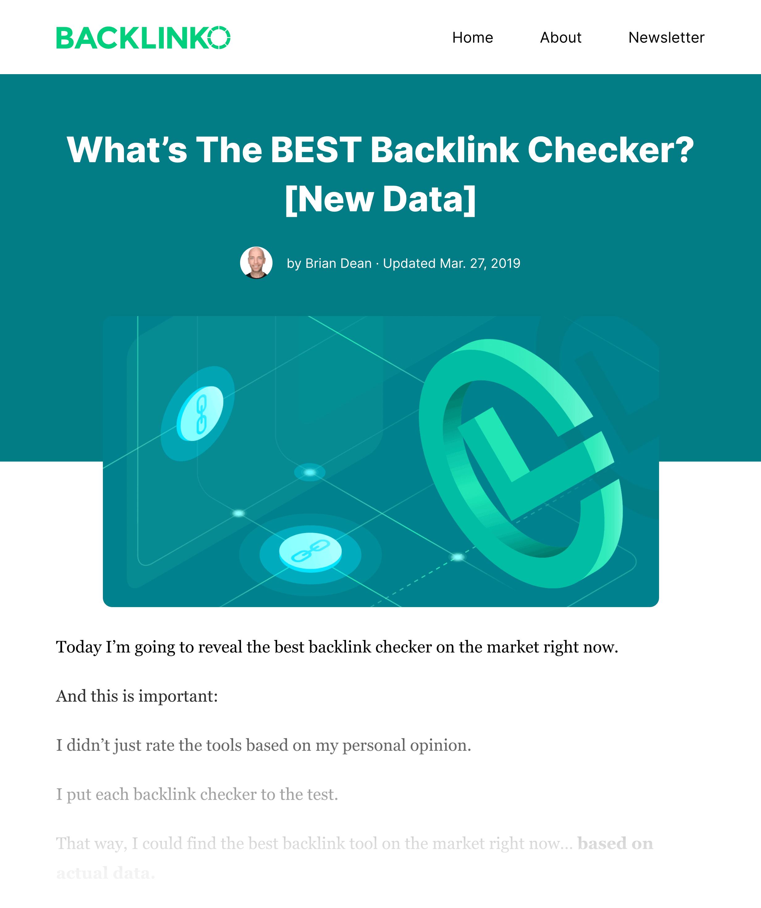 Backlinko – Best Backlink Checker Post