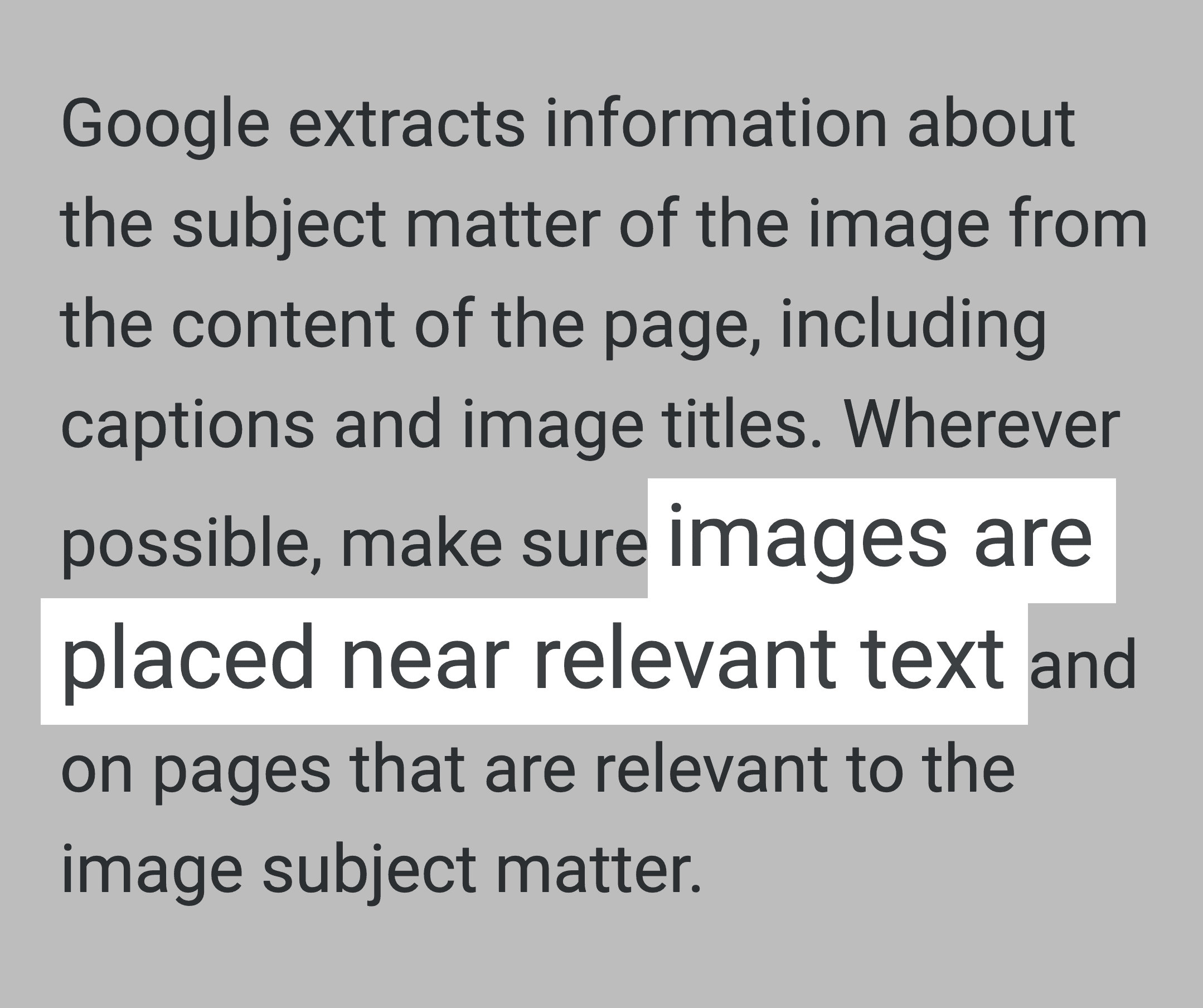 Google Blog – Images Placed Near Relevant Text