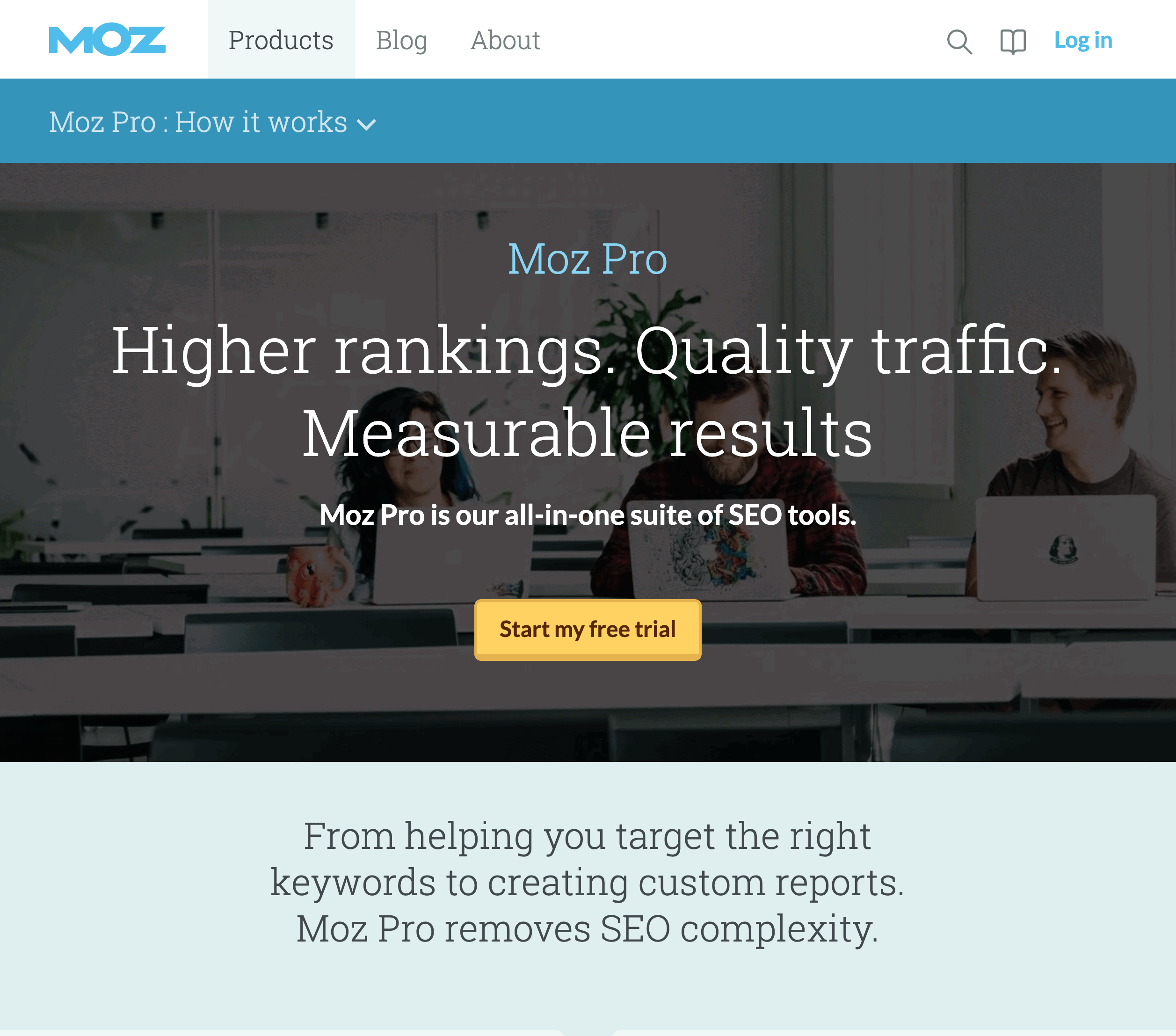 MOZ Pro – Product Page