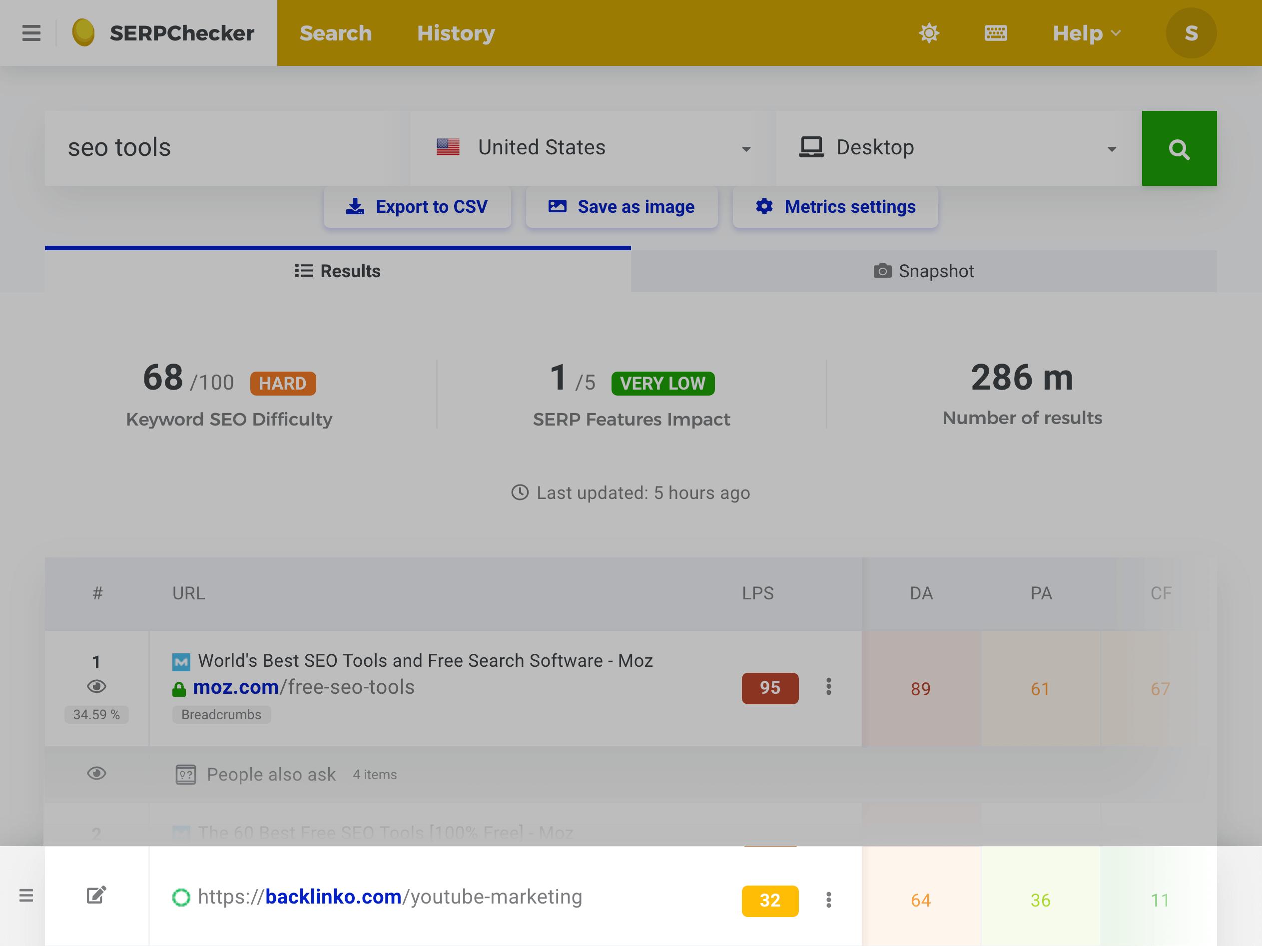 SERP Checker – URL Compare